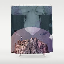 flying woman Shower Curtain