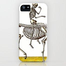 Horse Skeleton & Rider iPhone Case