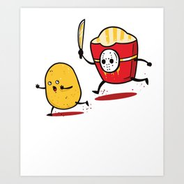 Funny Fries Horror Halloween graphic - perfect gift Art Print