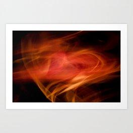 Fire Heart Art Print