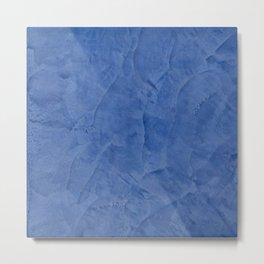 Tuscan Blue Plaster Metal Print