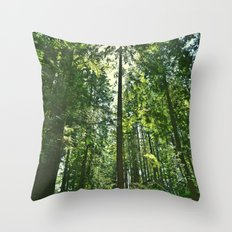 i want to be on the tops of all the trees Throw Pillow