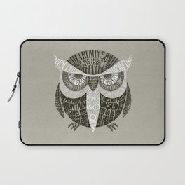 Wise Old Owl Says Laptop Sleeve