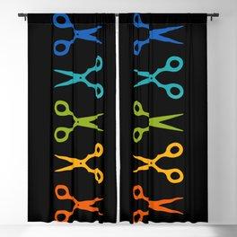 Rainbow Scissors Blackout Curtain