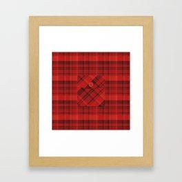 Plaid Pocket - Red Framed Art Print
