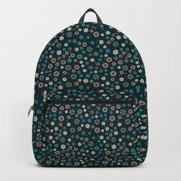 Festive Teal Snowflake Pattern Backpack