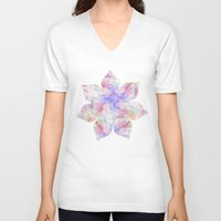 transparent V-neck T-shirts featuring TRANSPARENT VEILS by INA FineArt