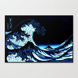 the Great Wave Blue Canvas Print