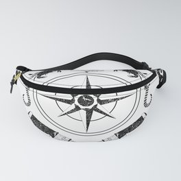 Nautical black and white poster-2 Fanny Pack
