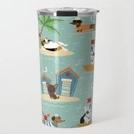 The Ultimate Dog Vacation pattern Travel Mug