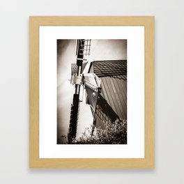 Typical Dutch Windmill in Bourtange (The Netherlands) Groningen Framed Art Print