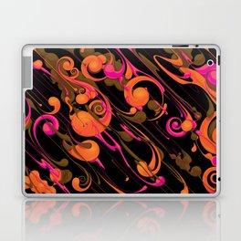 Swirly rain Laptop & iPad Skin