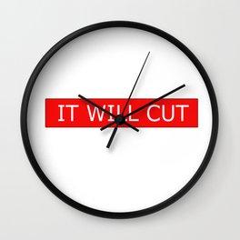 I Will Cut Wall Clock