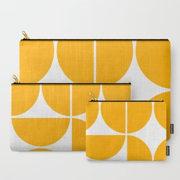Mid Century Modern Yellow Square Carry-All Pouch