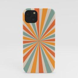 Retro Sunburst 70s iPhone Case