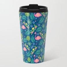Fruity Flamingo - Blue Travel Mug