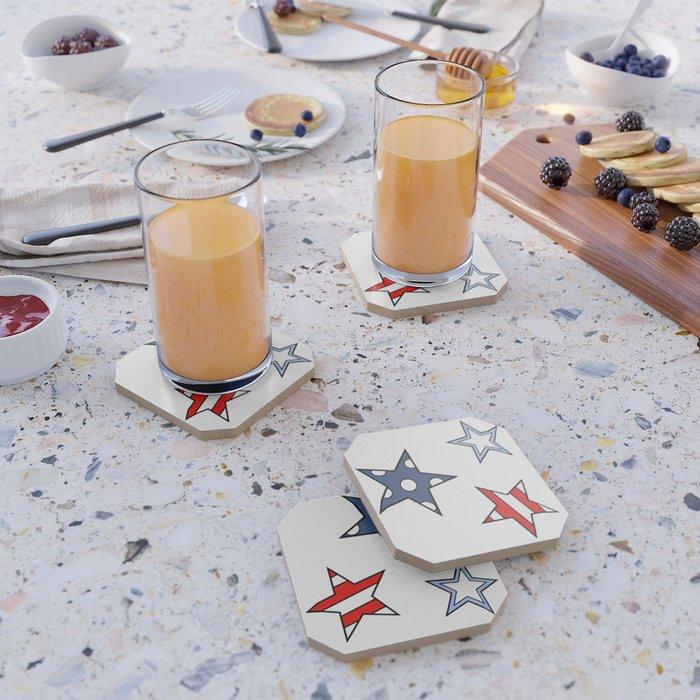 HAPPY STARS by Silvana Arias Coaster