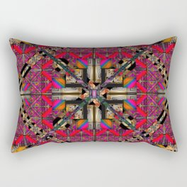 number 293  yellow pink multicolored Rectangular Pillow