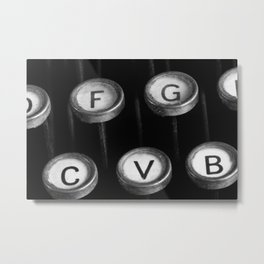 typewriter keys Metal Print