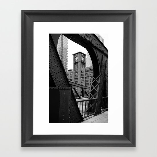 Clark Street Bridge - Chicago Framed Art Print