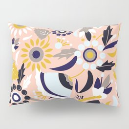 Bunch of Flowers and Leaves Pillow Sham