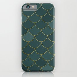 Tidewater green scales iPhone Case