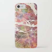 stockholm iPhone & iPod Cases featuring Stockholm by MapMapMaps.Watercolors