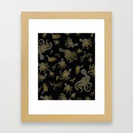 Baby Octopi Framed Art Print