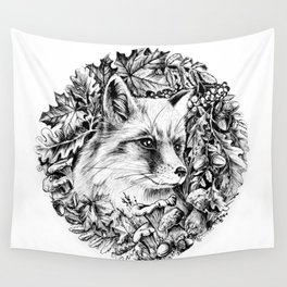 """Autumn fox. From the series """"Seasons"""" Wall Tapestry"""