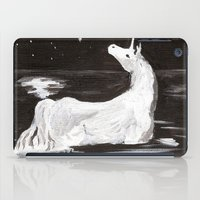 the last unicorn iPad Cases featuring The Last Unicorn by Alexandra Sutherland