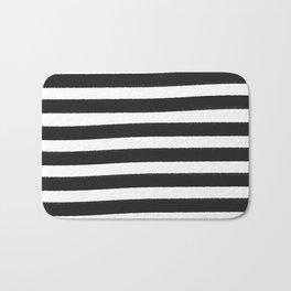 Brushy Stripes - Dark Gray Bath Mat