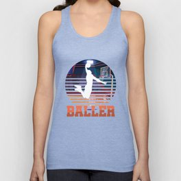 Basketball Coach MVP Dribbling Ring Court Basketball Player Baller Gift Unisex Tank Top