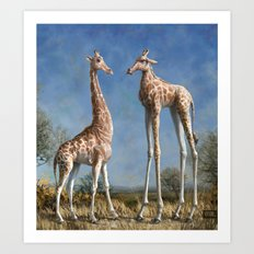 Emmm...Welcome to the herd... Art Print