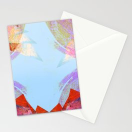 Triangles in red Stationery Cards