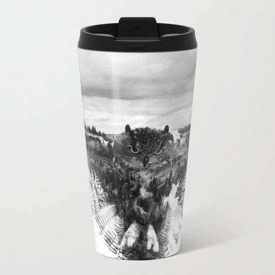 Owl Mid Flight Metal Travel Mug