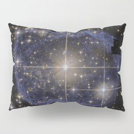 Blue Bubble Nebula Pillow Sham