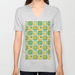 Colorful Nested Squares Pattern Unisex V-Neck
