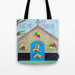 ASL I Love my Church Tote Bag