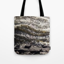 Torrent river Tote Bag