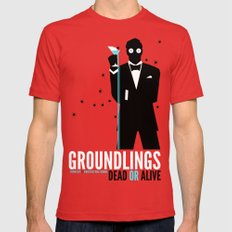 Groundlings: Dead or Alive Commemorative Shirt LARGE Mens Fitted Tee Red