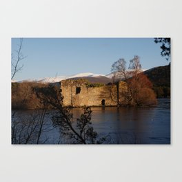 Castle on the island Canvas Print