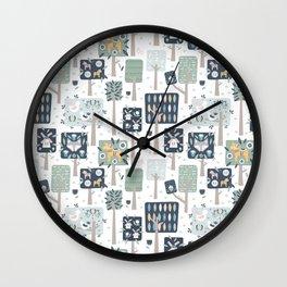 Swedish Woodland Wall Clock