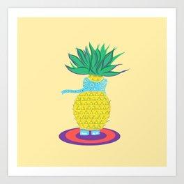 Pineapple Ellie Art Print