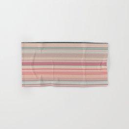 Pink Peach Pastel Stripe Design Hand & Bath Towel