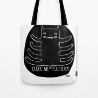 cuddle Tote Bags featuring cuddle me by smaomao