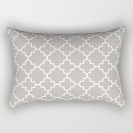 Classic Quatrefoil pattern, warm grey Rectangular Pillow