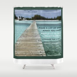 Path to Happiness Shower Curtain