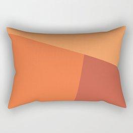 dégradé trapèze orange clair Rectangular Pillow
