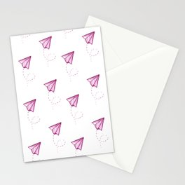 Happy paper planes Stationery Cards