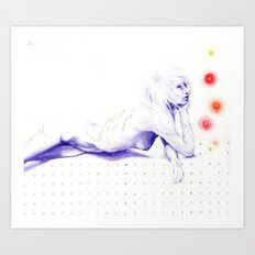Flicker beat Art Print